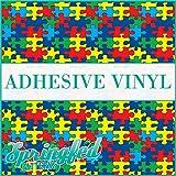AUTISM Puzzle Pattern Craft Vinyl 3 sheets 12x12 Autism Print for Vinyl Cutters