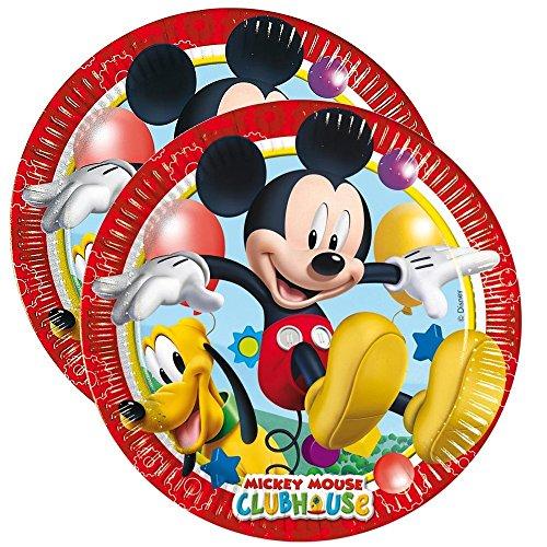 Mickey Mouse Plaque de Papier   8 Pièces   Disney Party Anniversaire