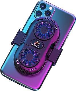 [2021強力版] スマホ散熱器 冷却クーラー ダブルファンモーター 3秒急速冷却 静音 小型 急速冷却クーラー 半導体冷却 散熱効果 伸縮式クリップ iPhone/Android対応 荒野行動 PUBG(ブラック)