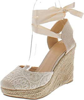 floral closed toe wedges