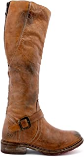Women's Glaye Motorcycle Boot, Tan Rustic/White, 7 M US