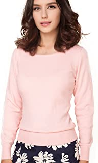 Women's Cashmere Wool Blended Long Sleeve Crew Neck Sweater