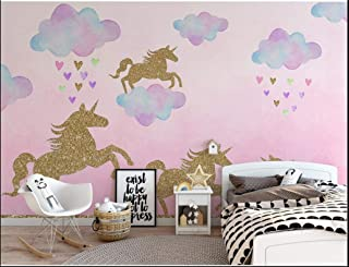 2 Pack Unicorn Wall Sticker Unicorn Wall Paper Decor for Unicorn Party Supply Favors Birthday for Boys Girls Kids Bedroom ...