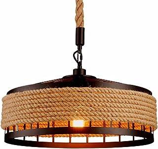 Luz de techo, Retro Hierro Industrial Vintage Loft luz de techo lámpara colgante lámpara E27, ?40cm*H25cm Negro