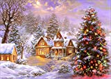 5D Diamond Painting Kits for Adults Christmas Tree Full Drill Embroidery DIY Painting with Crystal Rhinestone Cross Stitch Painting Arts Crafts for Home Wall Decor 12 X 16 Inches YANFUN