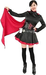 DAZCOS US Size Rose Cosplay Costume Black Red Lolita Dress