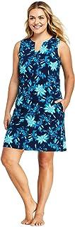 Women's Cotton Jersey Sleeveless Swim Cover-up Dress