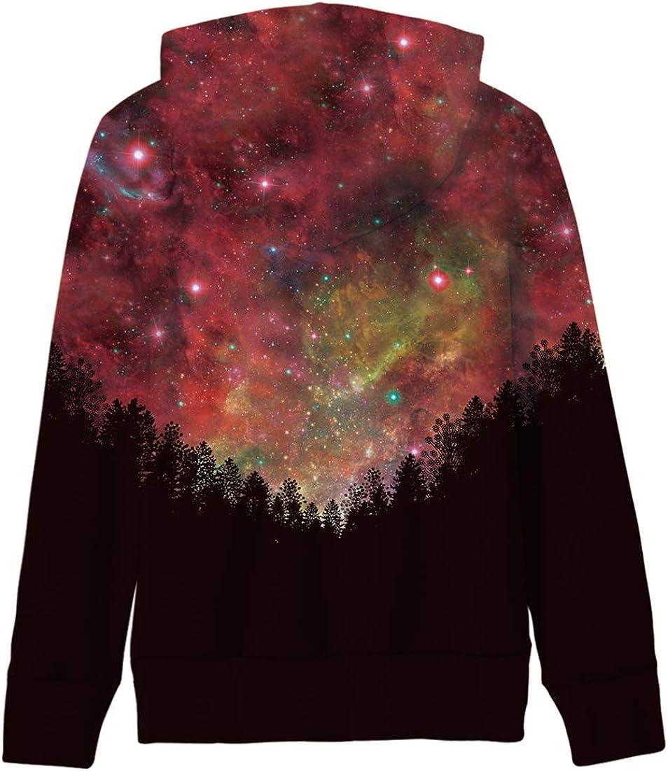 AIDEAONE Kinder Jungen Mädchen Kapuzenpullover 3D Print Fleece Pullover Hoodies Sweatshirt mit Kängurutasche C-fancy