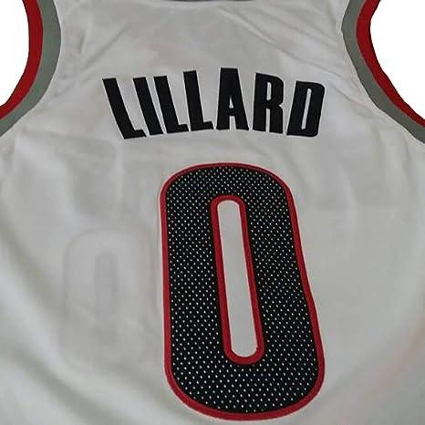 0 Jerseys leales fan/áticos Chalecos Tops Deportivos HGTRF Camisetas de Baloncesto para Hombres y Mujeres Portland Trail Blazers Damian Lillard No