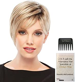 Bundle - 3 Items: Natalie Petite Wig by Jon Renau, Christy's Wigs Q & A Booklet & Wide Tooth Comb - Color: 12FS8