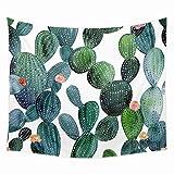 XXGI Wohnzimmer Dekoration Gobelin Tropical Desert Sunshine Kaktus Tapisserie Wandbehang Druck Tapisserie Picknick Strand Blatt Tischdecke -