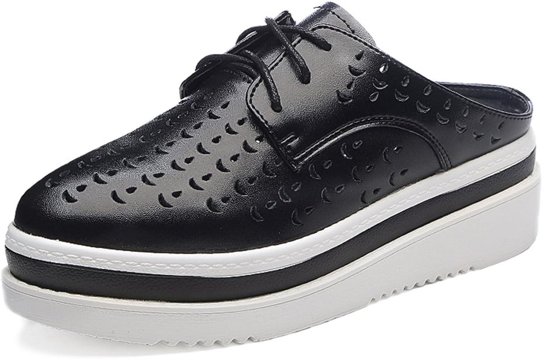 Sandalen Sommer- Zehe Umwickeln Hohl Halbschuh Weiblich Polyurethan Dicker Boden Lässige Schuhe Hang High Heels (Farbe   Schwarz, größe   EU36 UK4 CN36)  | Viele Stile