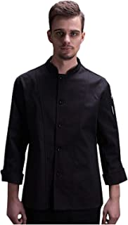 Men's Single Breasted Long Sleeve Chef Coat
