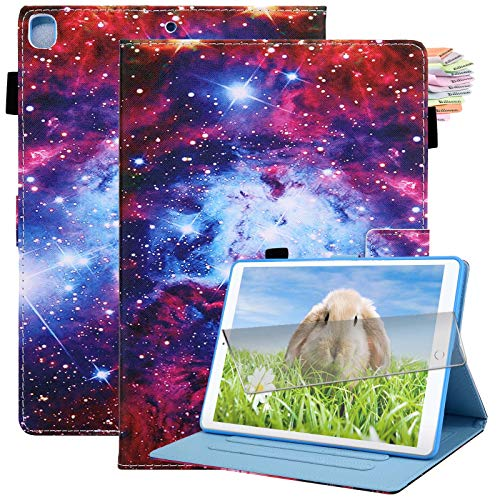 Billionn iPad 10.2 Case 2020 iPad 8th Generation Case / 2019 iPad 7th Generation Case, with Pencil Holder, Auto Sleep/Wake, Screen Protector, Starry Sky