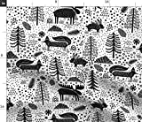 Spoonflower Stoff – Kanada Wildlife Natur Wald Tier