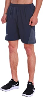 Men's 7 Inch Quick Dry Running Shorts Workout Sport Fitness Short with Liner Zip Pocket