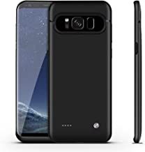 Galaxy S8 Plus Battery Case,FIDEA 5000mAh Rechargeable Slim External Battery Case,with Rechargeable External Battery,Portable Charger Power Bank Cover for Samsung Galaxy S8 Plus(Black)