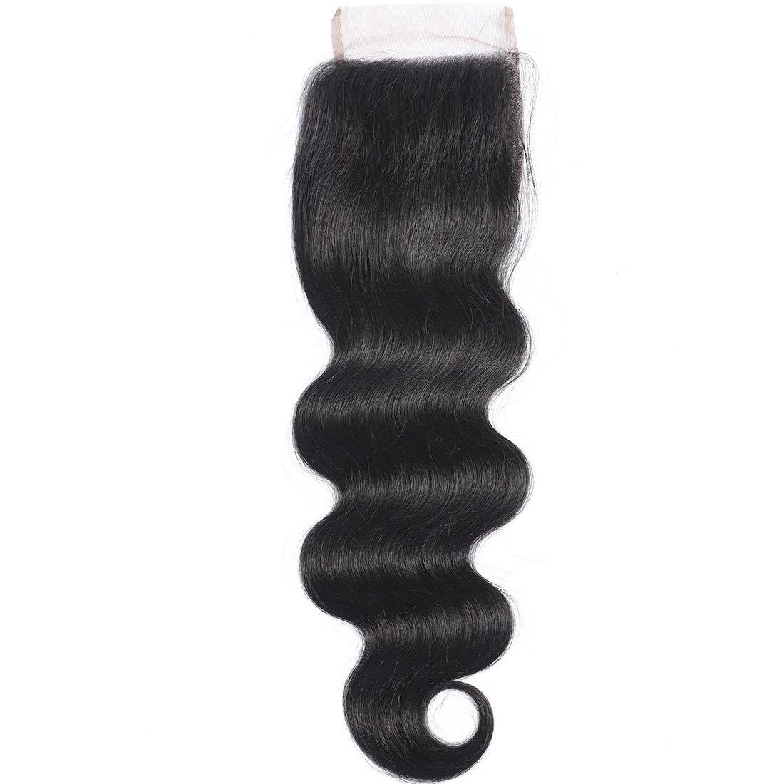 Misoun Hair Free テレビで話題 Part Lace Closure 4x4 Brazilian Virgi Wave <セール&特集> Body