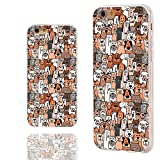 iPhone 6s Case,iPhone 6 Case,ChiChiC 360 Full Protective Shockproof Slim Flexible Soft TPU Art Design Cover Cases for iPhone 6 6s 4.7 Inch,Cartoon Animal pet Cute Brown Dogs and Cats Smile
