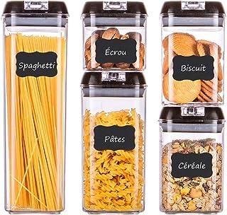 HOMELODY Juego de Recipientes Herméticos,Set de Almacenamiento de Alimentos,5 Piezas,Contenedores de Alimentos Fáciles de Abrir,sin BPA,Seguro y Duradero,Apta para lavavajillas