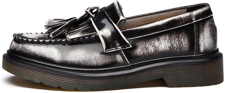ZHRUI Frauen Flats Leder Oxfords Schuhe für Frauen Frauen Frauen (Farbe   Grau, Größe   2.5=35 EU)  5ae3bd