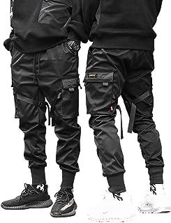 HONIEE Men's Hiphop Punk Jogger Sport Harem Pants