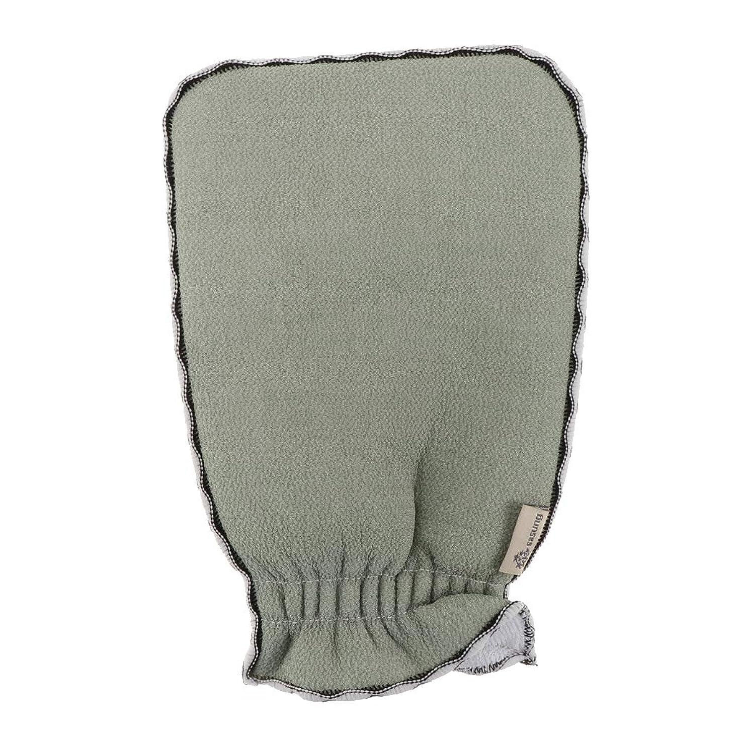 不健康ピケ突破口Hellery 全3色 浴用手袋 あかすり ボディタオル 入浴用品 バス用品 垢すり手袋 毛穴清潔 角質除去 - ライトグリーン