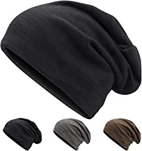 Winter Beanie Hat Unisex Knit Beanie Slouchy Skull Hat for Women Men Windproof Wrinkled Beanie Cap for Hiking, Cycling