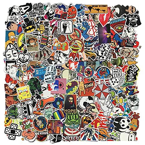 Zelbuck Adesivi Stickers Pack 300 Pz Adesivi Computer Portatile Adesivi Graffiti Impermeabile per Auto Moto Bicicletta Bagagli Decalcomania Patch Skateboard Laptop Chitarra Drum Bambini Adulti Bomb
