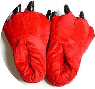 Surprise S Slippers Animal Slippers Men Women Winter Monster Claw Plush Home Slipper Soft Indoor Floor Shoes Pantufa