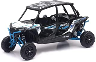 NewRay 57843B Polaris RZR XP 4 Turbo EPS Matte White Lightning Diecast Car