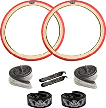 SE Bikes Speedster 29 Inch OEM BMX Durable Wire Bead Replacement Dirt Street Bike Tire Tube Rim Strip Lever Kit Bundle