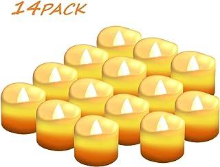 Velas LED Sin Fuego 14 Pack ,Velas LED que parpadean