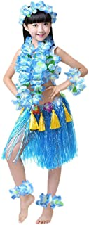 Girls Hawaiian Hula Set with Tassels 8pcs