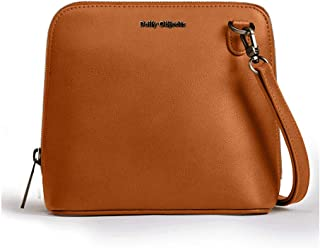 DailyObjects Tan Vegan Leather Trapeze Sling Crossbody Bag for girls and women | Vegan leather, Stylish, Sturdy, Zip closu...