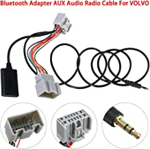 Folluer 14 Pin Bluetooth Input Adapter Car Stereo Audio AUX Cable for Volvo C30/S40/V40/V50/S60/S70/C70