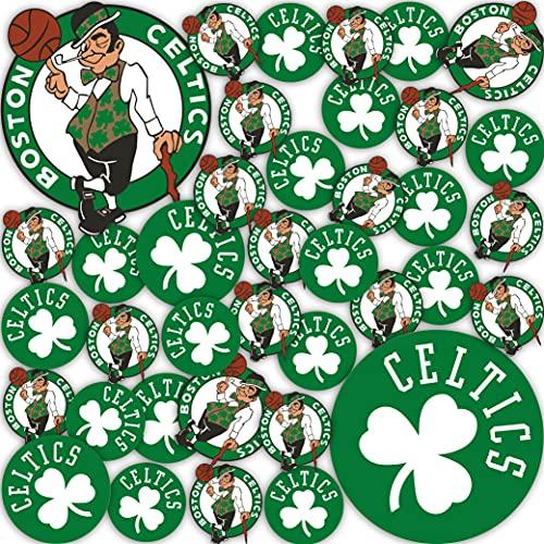 Boston Celtics NBA Officially Licensed Sticker Vinyl Decal Laptop Water Bottle Car Scrapbook (Type 1 Sheet)