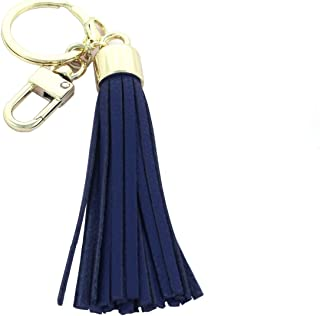 Womens's Leather Tassel Charm Women Handbag Wallet Accessories Key Rings