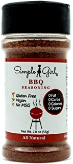 Simple Girl BBQ Seasoning - Sugar Free - Natural Herbs and Spices - Carb Free - Gluten Free - MSG Free - Diabetic Friendly...