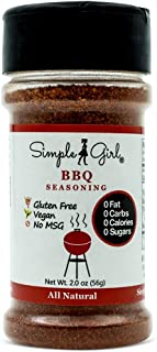 Simple Girl BBQ Seasoning - Sugar Free - Natural Herbs and Spices - Carb Free - Gluten Free - MSG Free - Diabetic Friendly - Compatible With Most Low Calorie Diets