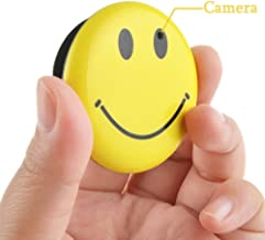 8GB Mini Hidden Spy Camera Wearable Smile Face Badge Covert Camera Nanny Cam Indoor Security Video Camera