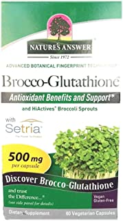 Nature's Answer Brocco-Glutathione 500 mg Vegetarian Capsules 60s