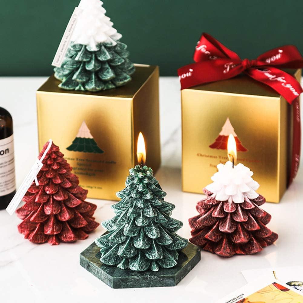 NXACETN Vela De Aromaterapia con Forma De /árbol De Navidad Perfumada para Decoraci/ón De Fiesta En Casa