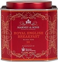 Harney & Sons Royal English Breakfast Tea Tin Blend of Black Teas, Great Present Idea - 30 Sachets, 2.67 Ounces
