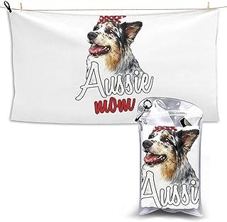 American Eskimo Dog Cute Microfiber Beach Towel Compact Quick Dry Super Absorbent Lightweight All Purpose Towel Sand Free Towel for Travel Yoga Gym Swim Hiking,Camping & Bath