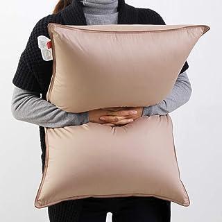 SNOWMAN Luxury Goose Down Pillow Sleeping (Set of 2) King Size Pillow - 100% Cotton Shell Breathable and Ultra Fresh,Khaki