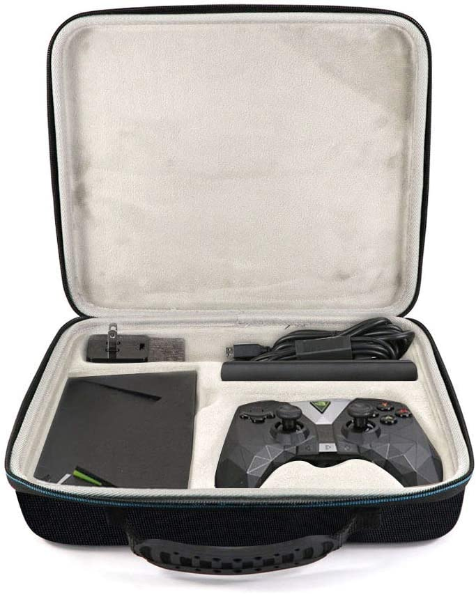 Oriolus Hard Case for NVIDIA Shield TV Gaming Edition | 4K HDR Streaming - NVIDIA Shield Media Player, Remote, Shield Controller, USB Cable and Charger (Black)
