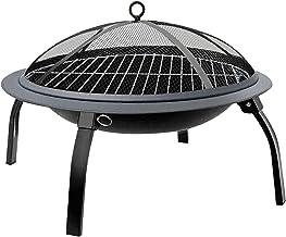 Parrilla de carbón para barbacoa Parrilla de carbón de 22 pulgadas, negra, plegable, hoguera ardiente, calentador al aire libre, patio trasero, estufa para patio, chimenea, parrilla para barbacoa, pa