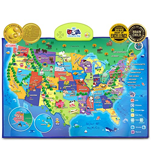 Best Learning i-Poster My USA Interactive Map