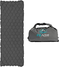 FE Active - Sleeping Pad Camping Air Mattress Lightweight Dry Bag Inflatable Blow Up Bed Water Resistant for Outdoors, Camping, Backpacking, Hiking, Trekking   Designed in California, USA